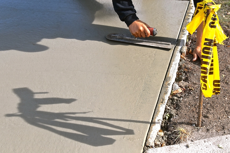 flattening of the cement